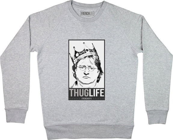 Sweatshirt King Gabe Newell Gris sport by [FRENCHKIFF]