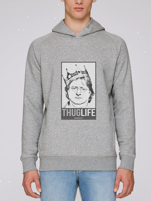 Sweat à capuche King Gabe Newell Blanc crème by [FRENCHKIFF]