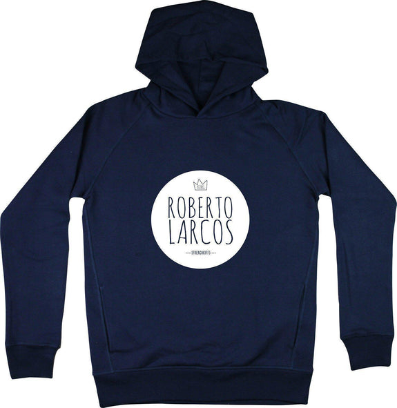 Sweat à capuche King Roberto Larcos Bleu marine by [FRENCHKIFF]