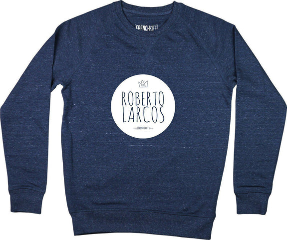 Sweatshirt King Roberto Larcos Bleu chiné by [FRENCHKIFF]