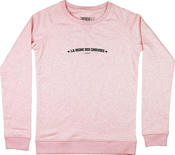 Sweatshirt Femme La Reine des Chieuses Rose by [FRENCHKIFF]