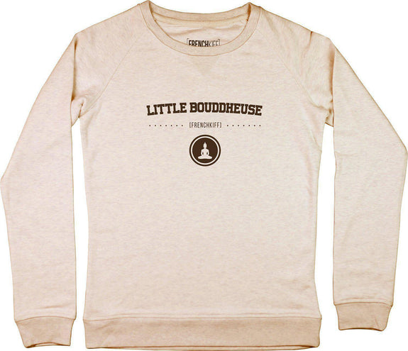 Sweatshirt Femme Little bouddheuse Beige chiné by [FRENCHKIFF]