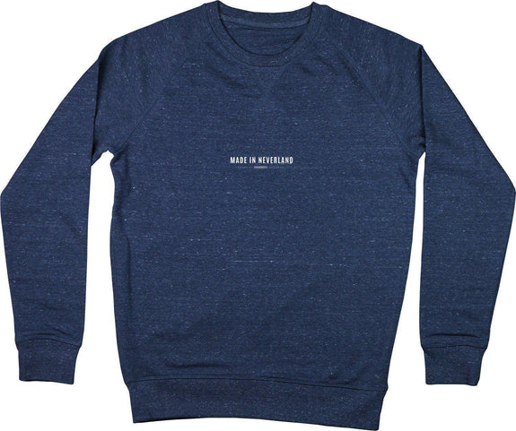 Sweatshirt Made In Neverland Bleu chiné by [FRENCHKIFF]