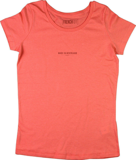 T-shirt Femme Made In Neverland Corail by [FRENCHKIFF]