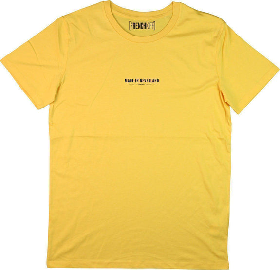 T-shirt Made In Neverland Jaune moutarde by [FRENCHKIFF]