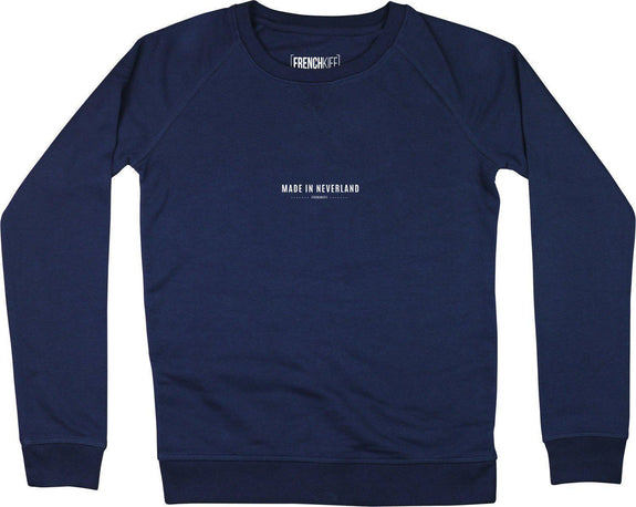 Sweatshirt Femme Made In Neverland Bleu marine by [FRENCHKIFF]