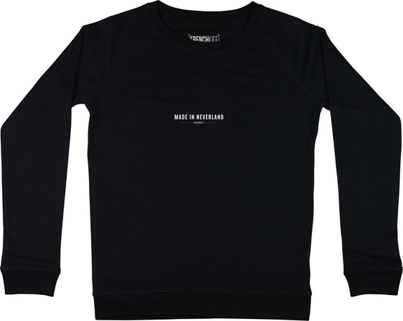 Sweatshirt Femme Made In Neverland Noir by [FRENCHKIFF]