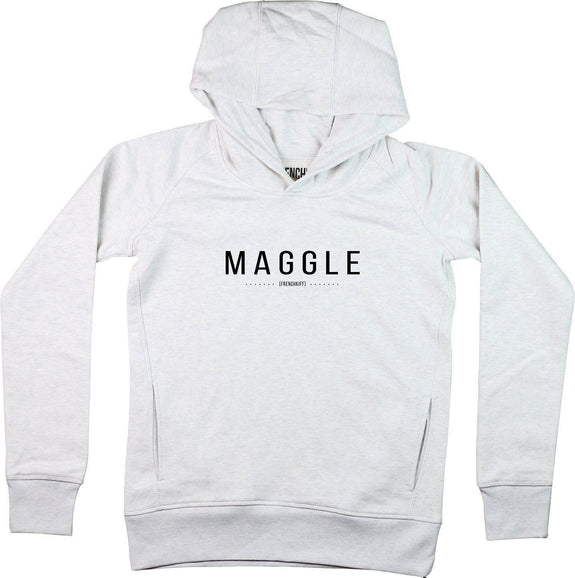Sweat à capuche Femme Maggle Blanc crème by [FRENCHKIFF]