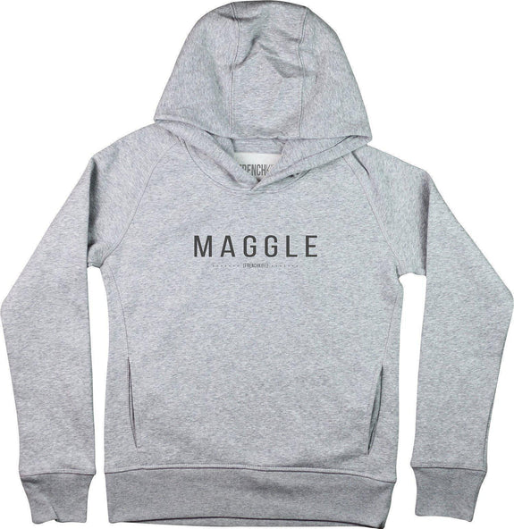 Sweat à capuche Femme Maggle Gris sport by [FRENCHKIFF]