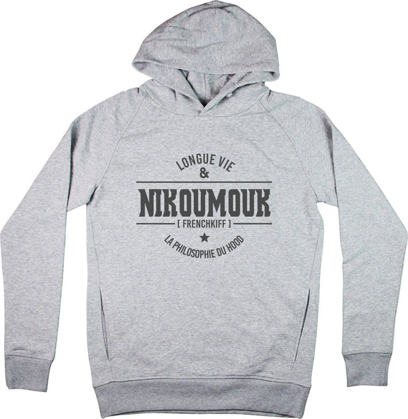 Sweat à capuche Nikoumouk Gris sport by [FRENCHKIFF]