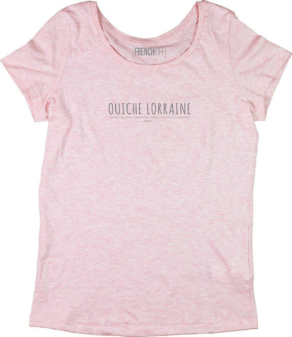 T-shirt Femme Ouiche Lorraine Rose by [FRENCHKIFF]