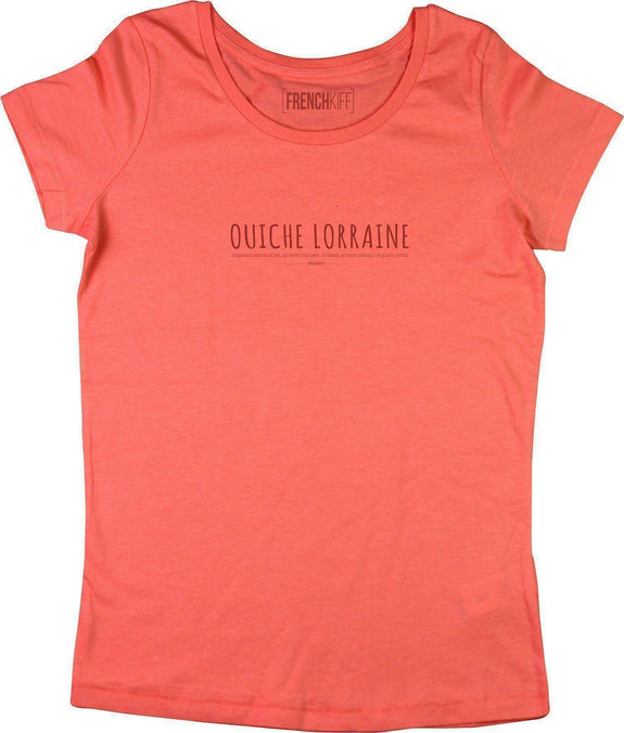 T-shirt Femme Ouiche Lorraine Corail by [FRENCHKIFF]