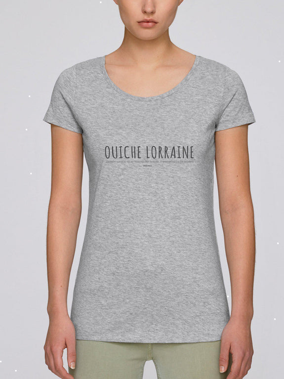 T-shirt Femme Ouiche Lorraine Blanc by [FRENCHKIFF]
