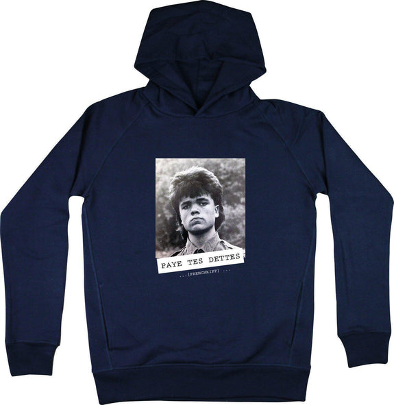 Sweat à capuche Paye tes dettes - Tyrion Lannister Bleu marine by [FRENCHKIFF]