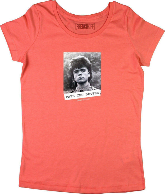 T-shirt Femme Paye tes dettes - Tyrion Lannister Corail by [FRENCHKIFF]