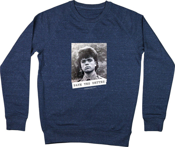 Sweatshirt Paye tes dettes - Tyrion Lannister Bleu chiné by [FRENCHKIFF]