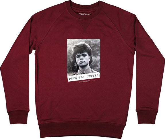Sweatshirt Paye tes dettes - Tyrion Lannister Bordeaux by [FRENCHKIFF]