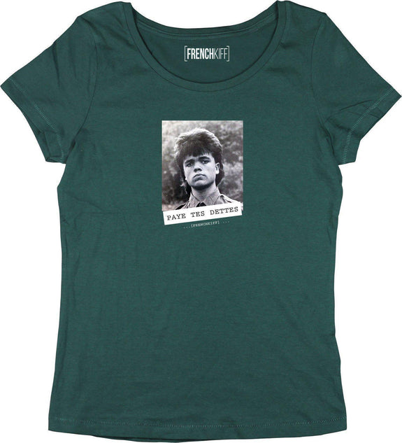 T-shirt Femme Paye tes dettes - Tyrion Lannister Vert bouteille by [FRENCHKIFF]