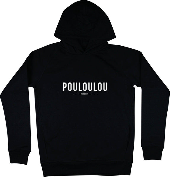 Sweat à capuche Pouloulou Noir by [FRENCHKIFF]