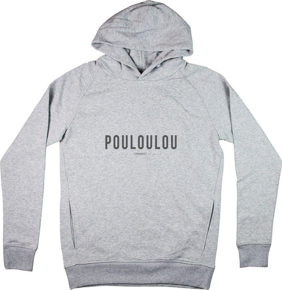Sweat à capuche Pouloulou Gris sport by [FRENCHKIFF]