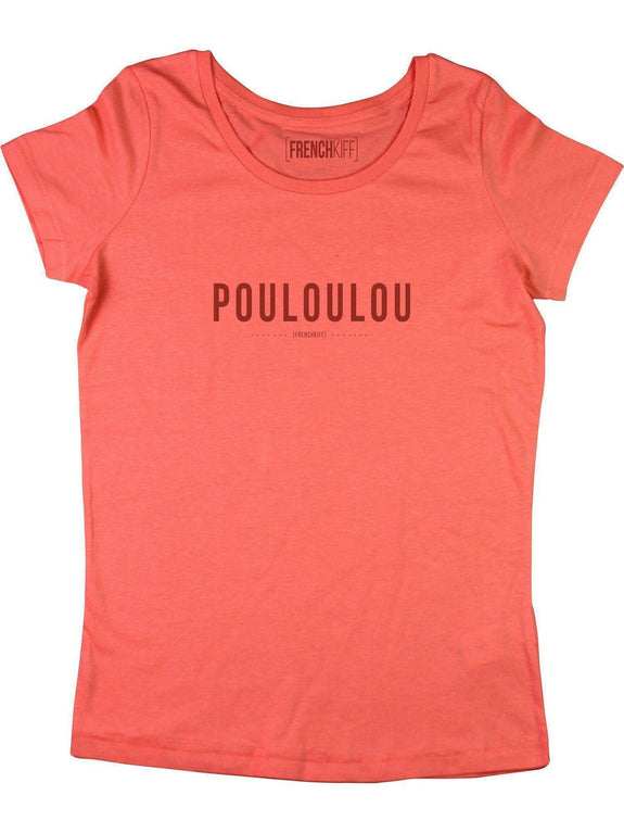 T-shirt Femme Pouloulou Corail by [FRENCHKIFF]
