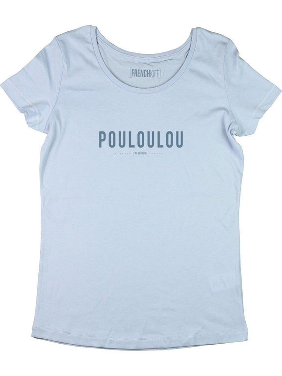 T-shirt Femme Pouloulou Blanc by [FRENCHKIFF]