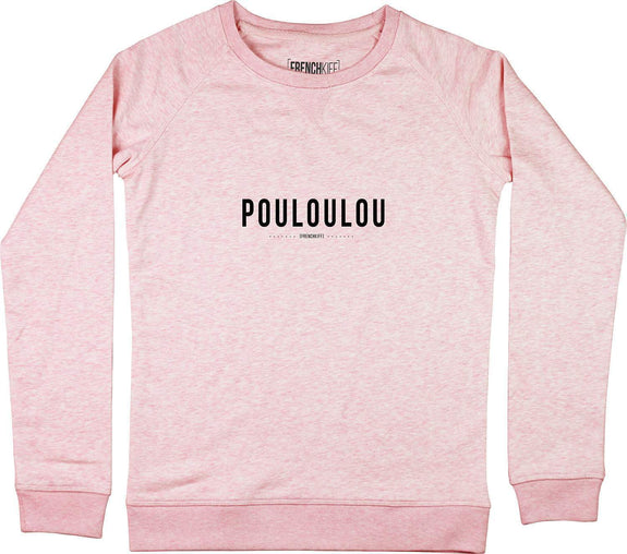 Sweatshirt Femme Pouloulou Rose by [FRENCHKIFF]