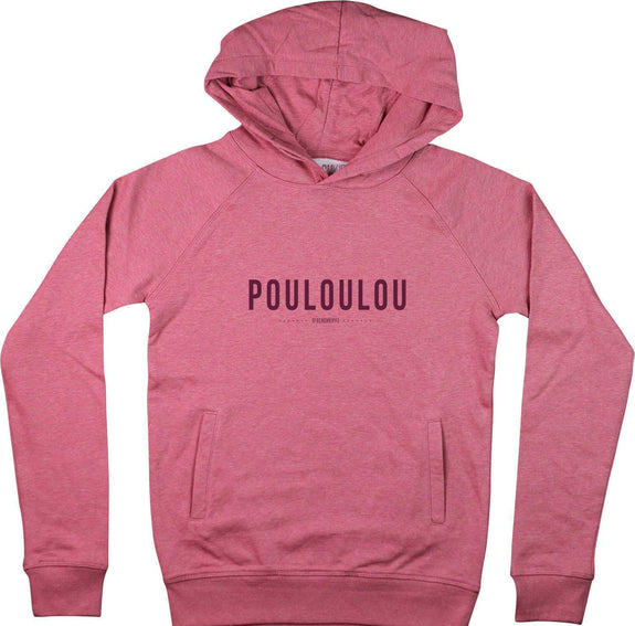 Sweat à capuche Femme Pouloulou Rose by [FRENCHKIFF]