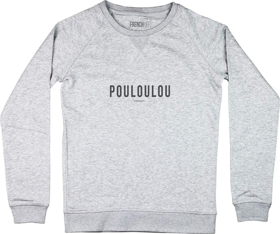 Sweatshirt Femme Pouloulou Gris sport by [FRENCHKIFF]