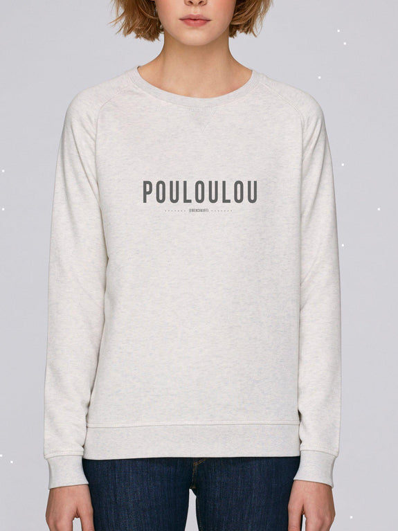 Sweatshirt Femme Pouloulou Beige chiné by [FRENCHKIFF]