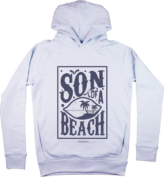 Sweat à capuche Son of a beach Bleu pastel by [FRENCHKIFF]