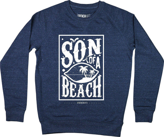 Sweatshirt Son of a beach Bleu chiné by [FRENCHKIFF]