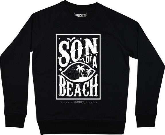 Sweatshirt Son of a beach Noir by [FRENCHKIFF]