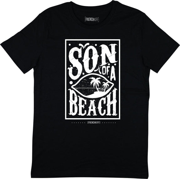 T-shirt Son of a beach Noir by [FRENCHKIFF]