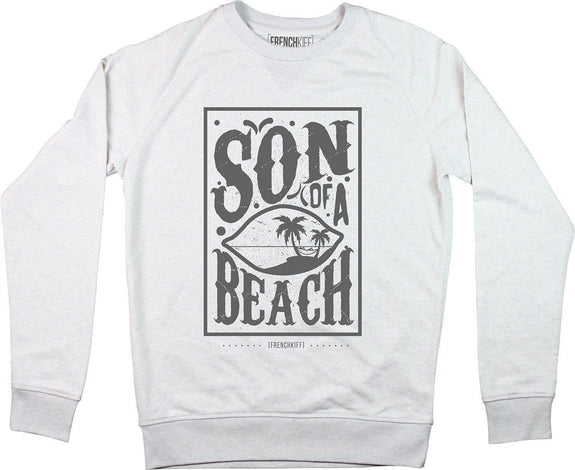 Sweatshirt Son of a beach Blanc crème by [FRENCHKIFF]