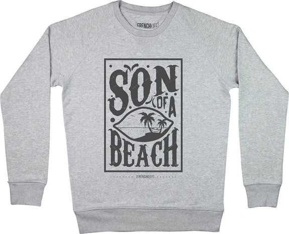 Sweatshirt Son of a beach Gris sport by [FRENCHKIFF]