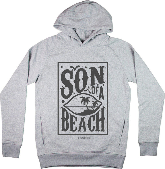 Sweat à capuche Son of a beach Gris sport by [FRENCHKIFF]