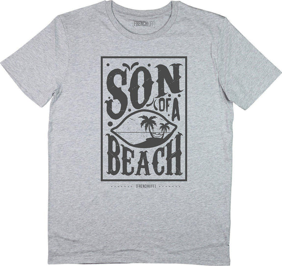 T-shirt Son of a beach Gris sport by [FRENCHKIFF]