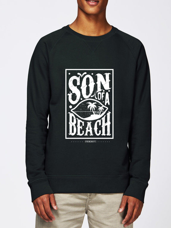 Sweatshirt Son of a beach Bleu marine by [FRENCHKIFF]