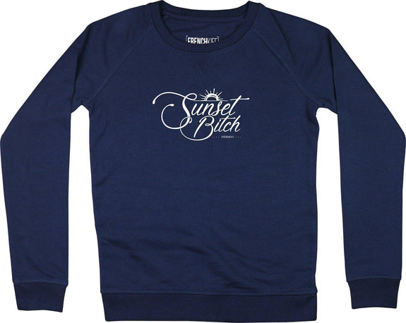 Sweatshirt Femme Sunset Bitch Bleu marine by [FRENCHKIFF]