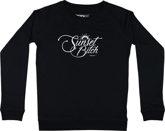 Sweatshirt Femme Sunset Bitch Noir by [FRENCHKIFF]