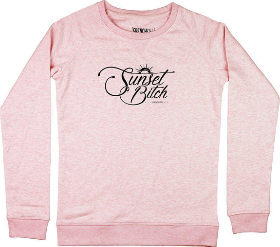 Sweatshirt Femme Sunset Bitch Rose by [FRENCHKIFF]