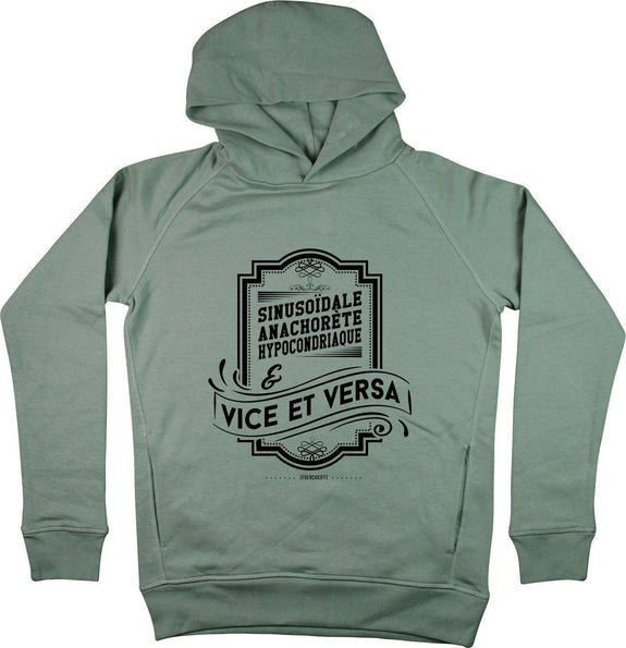 Sweat à capuche Vice et Versa Gris sport by [FRENCHKIFF]