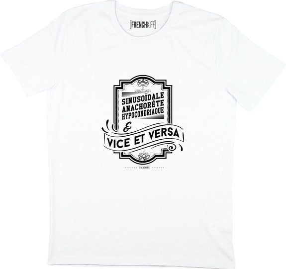 T-shirt Vice et Versa Blanc by [FRENCHKIFF]