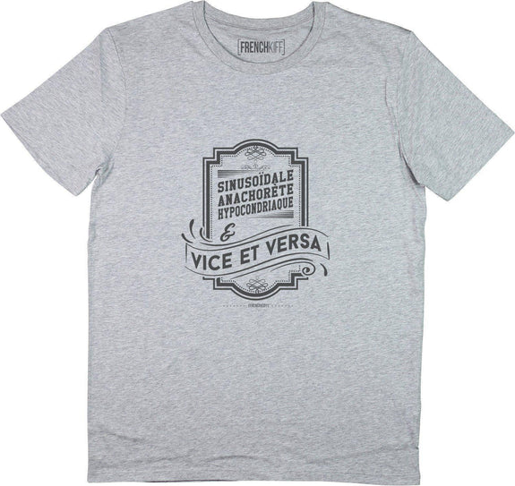 T-shirt Vice et Versa Gris sport by [FRENCHKIFF]