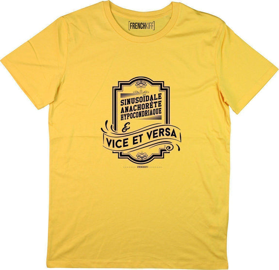 T-shirt Vice et Versa Jaune moutarde by [FRENCHKIFF]