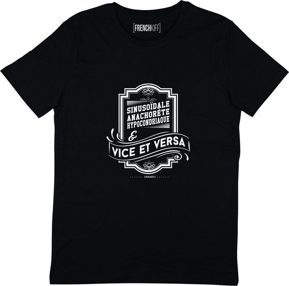 T-shirt Vice et Versa Noir by [FRENCHKIFF]