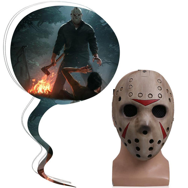 Friday the 13th Jason Voorhees Mask Jason VS Freddy Hockey Mask New-Horror Theme-WickyDeez