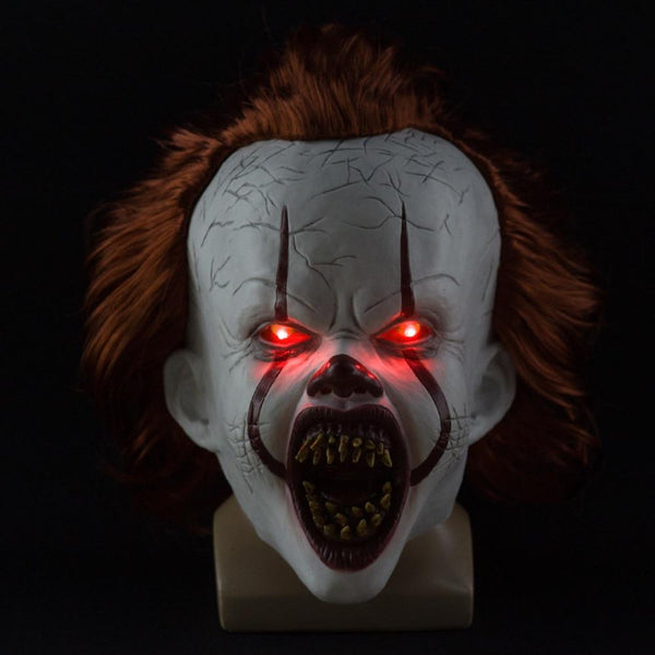 2 Versions - Stephen King's 2019 Chapter Two It Pennywise Mask Cosplay, Halloween Joker Clown Prop Mask