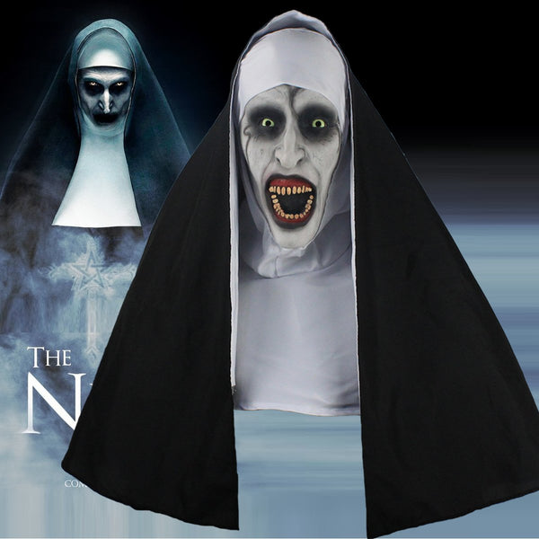 2018 The Nun Full Head Cosplay Horror Movie Mask Valak Conjuring Scary Halloween-Horror Theme-WickyDeez